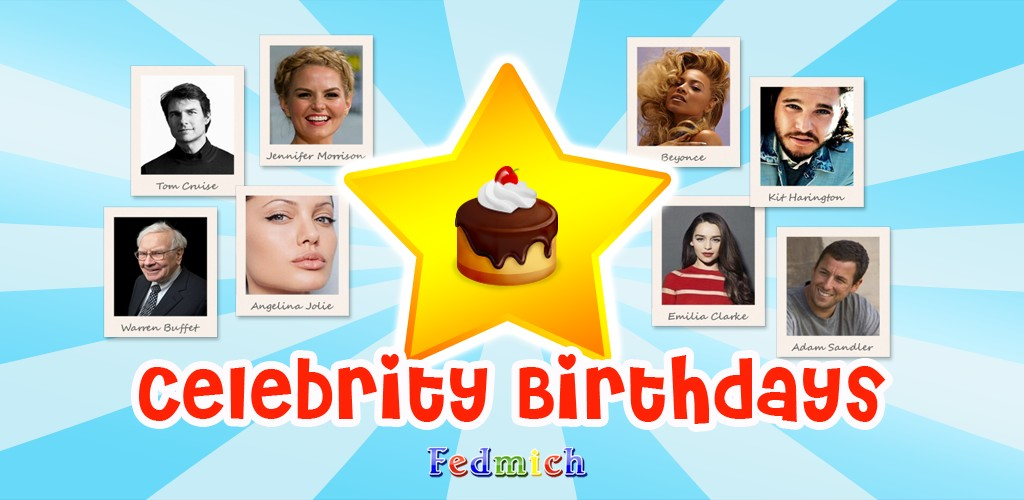 Celebrity Birthdays - Android App